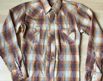 Western Shirt Brown size S