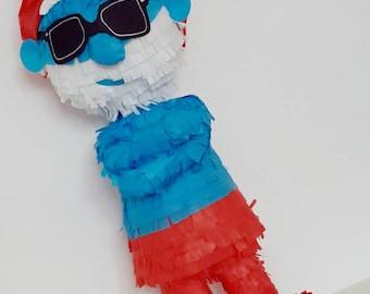 Large piñata Gran Smurf/Smurfs/Pitufo
