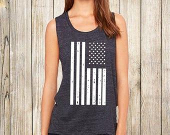 American Flag Muscle Tank