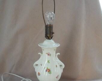 China Floral Boudoir Lamp - Vintage Urn Style  - Cottage Chic