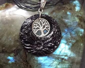 Tree of life jewelry, wiccan pagan, paganism, donut, resin jewelry
