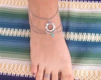 Stainless steel silver ankle bracelet