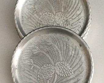Vintage Aluminum Coasters