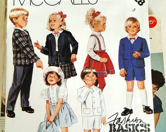 1987 McCall's 3228 Toddler's Jacket Skirt Pants and Shorts Size 3 Uncut FF Sewing Pattern ReTrO Dressy!