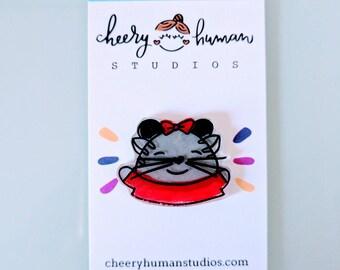 Handmade Cat on Vacation Pin