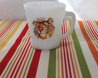 Vintage Fire King Esso Tiger Mug, Exxon, Anchor Hocking, Collectible Mugs, Fire King, Coffee Mug, Vintage Mugs, Vintage Coffee Cups