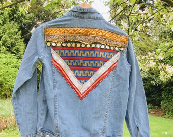 Vintage Hand-embellished Denim Jacket