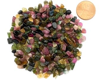Natural Mixed TINY Tourmaline, Tumbled, 2 - 5mm stones, 27 grams