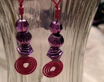 Pink & Purple Earrings