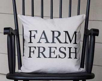 FARM FRESH - 18x18 Pillow Cover