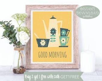 Wall Art, Printable Art, Tea Wall Art, Tea Printable, Kitchen Printable, Kitchen Print, Quote Print, Digital Print, Kitchen Art, Wall Prints