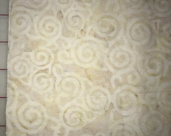 Batik 100% Cotton fabric by Half Yard increments - Neutral with pale Celtic Triskeles - Timeless Treasures (Tonga 1761)