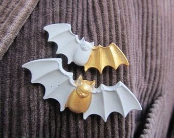 Concrete Bat Brooch Set, Concrete Jewellery, Cement Jewellery, Bat Brooch Set