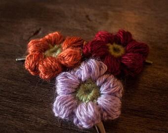 Mollie flower hair clips