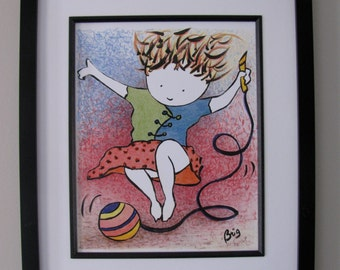 Opla - Drawing for children to decorate a bedroom or playroom