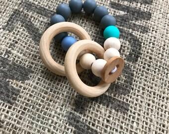 teething toy / teething ring / wooden toy / wood teething ring / wood teething toy