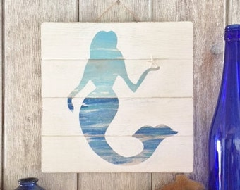 Mermaid Sign, Mermaid Decor Wood, Mermaid Decor, Mermaid Art Wood, Mermaid Sign Wood, Mermaid Wall Art Wood, Mermaid Wall Art, Mermaid Decor