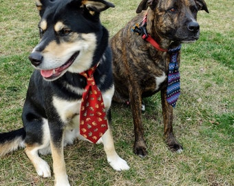Dapper Dog and Charming Cat Slip-On Neck Ties