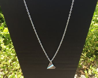 "Necklace ""Origami plane"""