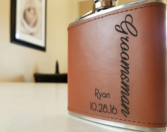 Groomsmen Gifts - Personalized Flask, Engraved Flask, Groomsman Gift, Flask, Best Man, Usher, Wedding Favors, Gift For Him, Custom