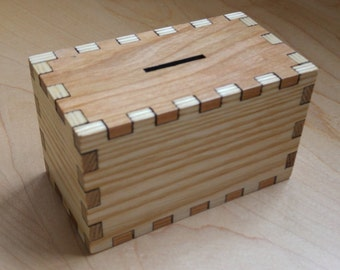 Hardwood Money Box, Money Bank