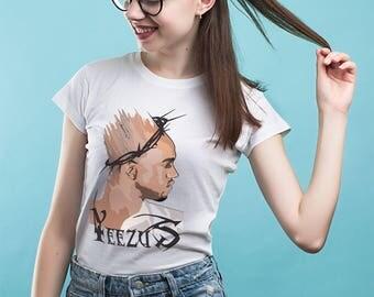 Yeezus Tour Yeezus Tee Yeezus lace up tee Yeezus t-shirt dress I feel like Pablo Kanye west shirt Yeezy season shirt Kanye West YP156