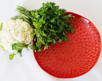 Red Lace Bowl