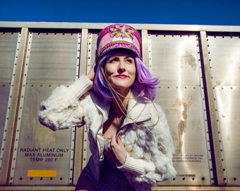 THE BARBIE DOLL - Marching band hat, Burning Man, festival