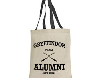 Gryffindor Hufflepuff Ravenclaw Slytherin alumni tote bag harry potter fantastic beasts and where to find them  hermione granger wizard wand