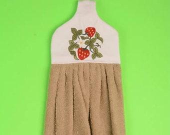 Strawberry hanging towel