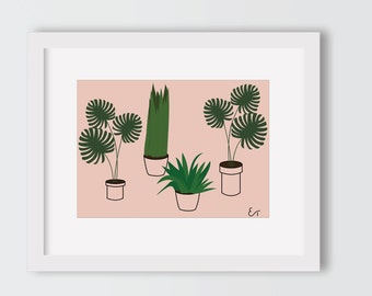 Pot Plants Printable Wall Art