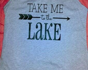 Take me to the lake tank top ladies flowy tank summer