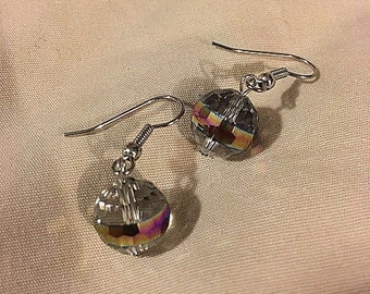 Shimmering Glassy Ball Earrings