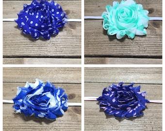 Baby Headband Baby Headband Set -  Shabby Flower Headbands Newborn Headbands Infant Headbands Baby Hair Bows Baby Bows Baby Girl Headbands