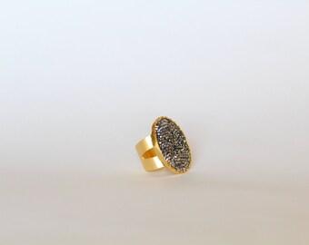 Silver Swarovski Ring, Swarovski Ring, Silver Swarovski, Adjustable Ring, Adjustable Swarovski Ring, Statement Ring, Fashion Ring
