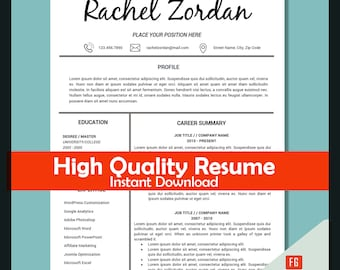 teacher resume template teaching resume resume template instant download education resume educator resume teaching cv template