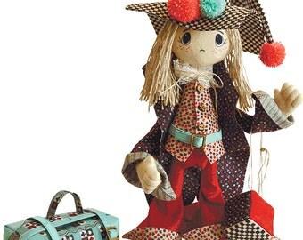 Joker Doll Kit Joker Card  Interior Doll Sewing Kit Textile carcass Doll with individual traits Kit Nova Sloboda