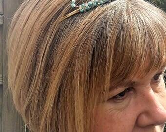 Prom tiara,Blue pearl tiara,Aqua turquoise tiara,Tiffany blue pearl and crystal tiara,Wedding tiara Baby blue tiara,Crystal and pearl tiara