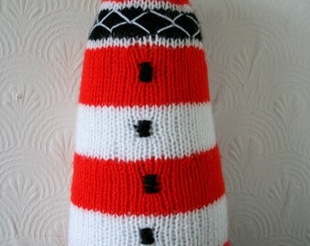 Knitted Lighthouse Doorstop