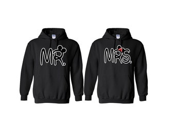 Mr Mickey Mrs Minnie Couple Hoodies Mickey Minnie Mouse Sweatshirts