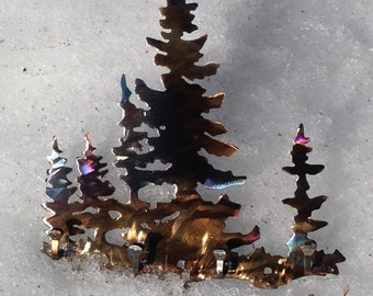 Tree key rack - metal wall art - tree - trees - decorations - home decor - hooks - storage & organization - neclace storage