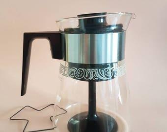 Vintage Pyrex Coffee Maker Percolator - Includes Original Box, Guarantee and Spreader