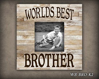 wb brother big brother frame frame for boy picture frame photo frame worlds best brother new brother boy birthday gift gift decor