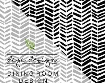DIGI • DESIGN | Dining Room + Free Art Print