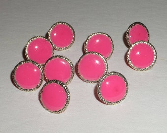 Fuschia Pink Handmade Decorative Thumb Tacks Push Pins Office Decor Home Decor