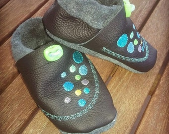 Push baby shoes leather shoes slippers kids shoes baby shoes