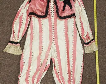 1920's Vintage, Antique Circus, Clown, performer costume and removable vest.   Hand made