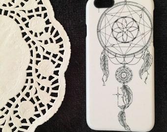 Dreamcatcher iPhone 6 Cover, Boho iPhone 6 Case Artwork, Dreamcatcher iPhone Case, Monochrome Zentangle iPhone 6 Case, Hippie iPhone 6 Cover