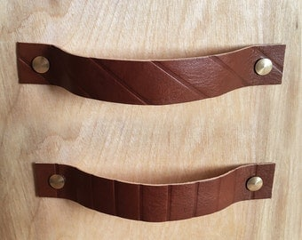 Leather Handles - Pattern - Line