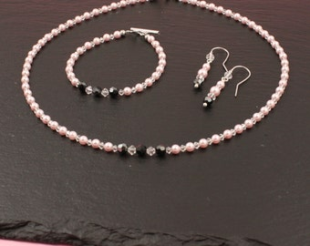 Bead sets Anna - Bridal, Bridal jewelry, Swarovski, beads, wedding jewelry, wedding jewelry